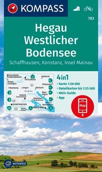 Kompass Karte 783, Hegau, Westlicher Bodensee 1:50.000, Wandern