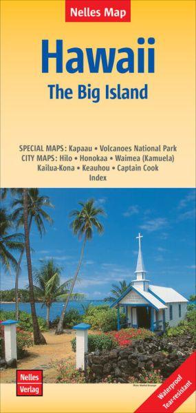 Nelles Maps, Hawaii: Big Island Hawaii 1:330.000, wasser- und reißfest
