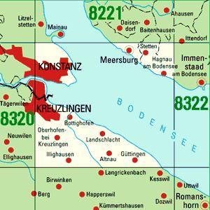 8321 KONSTANZ OST topographische Karte 1:25.000 Baden-Württemberg, TK25