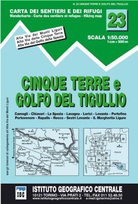 IGC 23 - Wanderkarte für Cinque Terre e golfo del Tigullio 1:50.000
