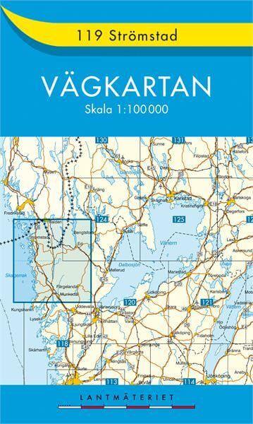 Schweden topographische Karte: Vägkarta 119 Strömstad 1:100.000