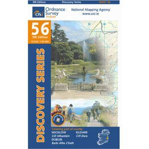 OSI 56 Wicklow, Dublin, Kildare Wanderkarte 1:50.000