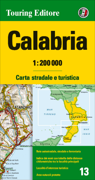 Kalabrien Straßenkarte 1:200.000, TCI 13, Calabria