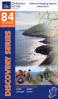 OSI 84 Cork, Kerry Wanderkarte 1:50.000 - Ordnance Survey Ireland