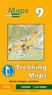 Mestia, Ushguli, Lashkheti - Georgien Trekkingkarte 1:50.000 – Geoland 9