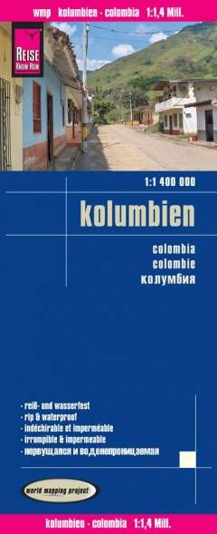 Kolumbien Landkarte 1:1.400.000, Reise Know-How