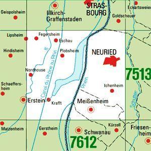 7512 NEURIED topographische Karte 1:25.000 Baden-Württemberg, TK25