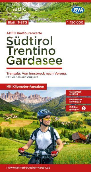 ADFC Radtourenkarte 28, Südtirol, Trentino, Gardasee, 1:150.000