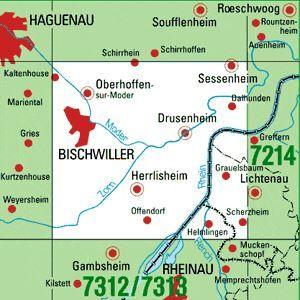 7213 LICHTENAU-SCHERZHEIM topographische Karte 1:25.000 Baden-Württemberg, TK25