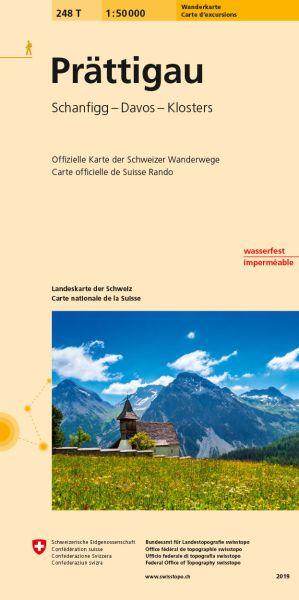 248 T Prättigau Wanderkarte 1:50.000 - Swisstopo