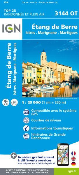 IGN 3144 OT Etang de Berre, Istres, Frankreich Wanderkarte 1:25.000