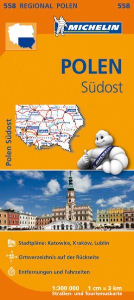 Michelin 558 Polen Südost Straßenkarte 1:300.000