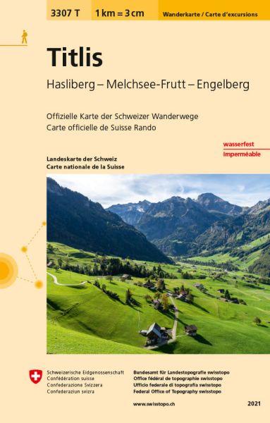 3307 T Titlis Wanderkarte 1:33.333 wetterfest - Swisstopo