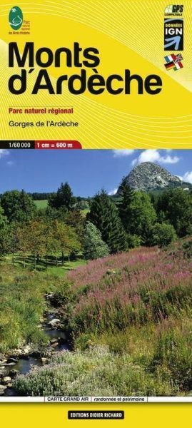 Editions Didier Richard 11 Monts d´Ardèche, Wanderkarte 1:60.000