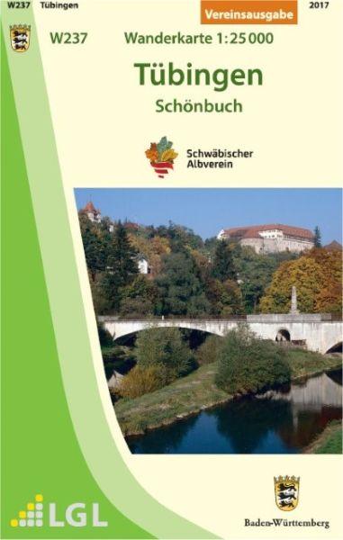 Tübingen W237, Wanderkarte 1:25.000 Schwäbischer Albverein