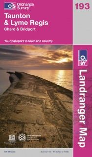 Landranger 193 Taunton & Lyme Regis, Großbritannien Wanderkarte 1:50.000