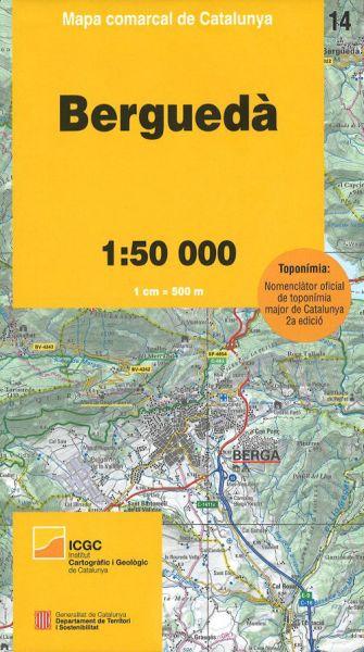 Bergueda, Katalonien topographische Karte, 1:50.000, ICC 14
