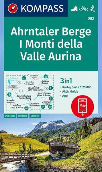 Kompass Karte 082 Ahrntaler Berge Wanderkarte Radkarte