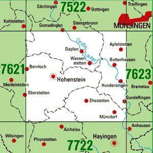 7622 HOHENSTEIN topographische Karte 1:25.000 Baden-Württemberg, TK25