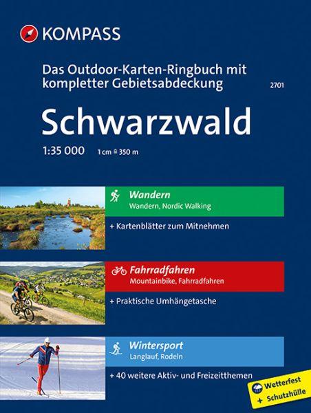 Schwarzwald Outdoor-Karten-Ringbuch 1:35.000 Kompass