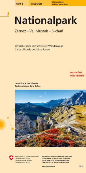 459 T Nationalpark Zernez Wanderkarte 1:50.000 - Swisstopo