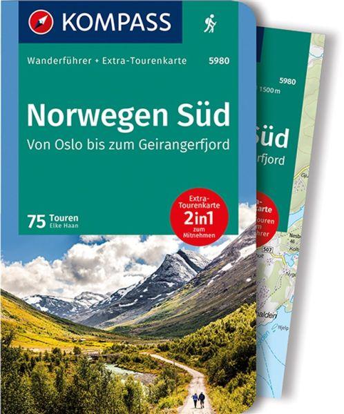 Norwegen Süd Wanderführer mit Karte, Kompass Wanderführer