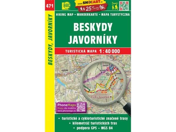 Beskiden, Javornik-Gebirge Wanderkarte 1:40.000 - SHOCart 471